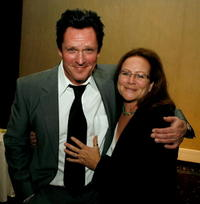 Michael Madsen and Sally Menke at the 57th annual ACE Eddie Awards cocktail reception held at the Beverly Hilton Hotel.