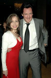 Michael Madsen and Vicki Roberts at the 57th annual ACE Eddie Awards cocktail reception held at the Beverly Hilton Hotel.