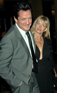 Michael Madsen and his wife De Anna Morgan at the 57th annual ACE Eddie Awards cocktail reception held at the Beverly Hilton Hotel.