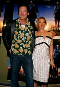 Michael Madsen and his sisiter Virginia Madsen at the premiere of