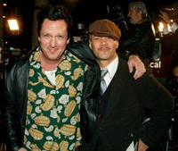 Michael Madsen and guest at the premiere of