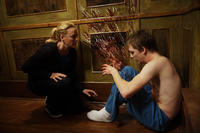 Virginia Madsen as Sara and Kyle Gallner as Matt in