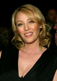 Virginia Madsen at the Collection Bebe 2007 fashion show during Mercedes Benz Fashion Week.