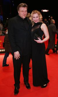 Director Petri Kotwica and Outi Maenpaa at the premiere of