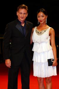 Benoit Magimel and Lika Minamoto at the premiere of