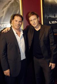 Florent Emilio Siri and Benoit Magimel at the screening of