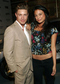 Lane Garrison and Nathalie Kelley at the California premiere party of