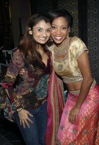 Anjali Bhimani and Tamyra Gray at the Cast Of Bombey Dreams at Dream Hotel.