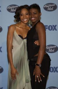 Tamyra Gray and Fantasia Barrino at the American Idol Season Three Grand Finale.
