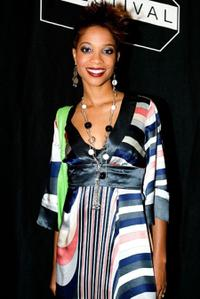Tamyra Gray at the premiere of