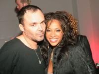 Director David LaChapelle and Tamyra Gray pose at the