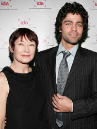 Ann Magnuson and Adrian Grenier at the International Documentary Association's 24th annual awards ceremony.