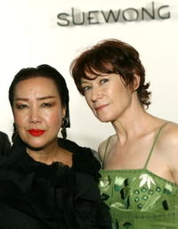 Ann Magnuson and Sue Wong at the Sue Wong Spring 2008 fashion show during Mercedes Benz Fashion Week.