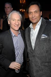 Bill Maher and Jimmy Smits at the grand opening of Conga Room.
