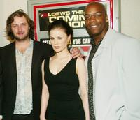 Director Gregor Jordan, Anna Paquin and Shiek Mahmud-Bey at the New York premiere of