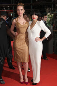 Victoria Mahoney and Zoe Kravitz at the premiere of