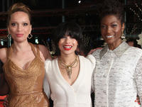 Victoria Mahoney, Zoe Kravitz and Yolonda Ross at the premiere of