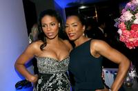 Angela Bassett and Sanaa Lathan at the ESCADA Grand-Reopening.