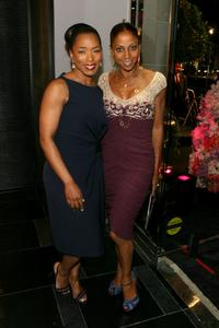 Angela Bassett and Robinson Peete at the ESCADA Grand-Reopening.
