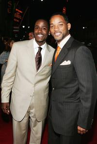 Jackie Long and Will Smith at the premiere of