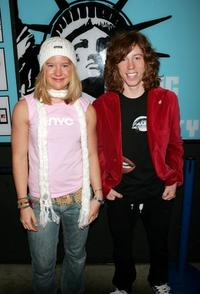 Hannah Teter and Shaun White at the MTV's Total Request Live.