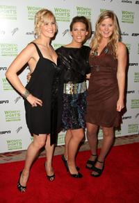 Sarah Burke, Torah Bright and Hannah Teter at the 29th Annual Salute to Women in Sports Awards.