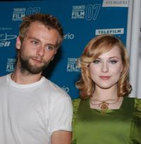 Joe Anderson and Evan Rachel Wood at the press conference of