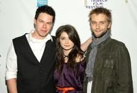 David P. Emrich, Eve Hewson and Joe Anderson at the premiere of