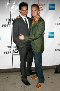 Michael Carbonaro and Director Todd Stephens at the premiere of
