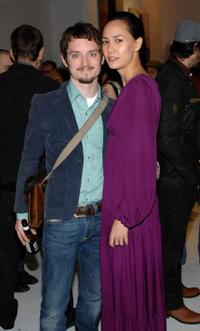 Elijah Wood and Pamela Racine at the Mercedes-Benz Fashion Week Fall 2008.