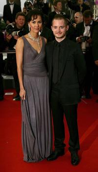 Pamela Racine and Elijah Wood at the premiere of