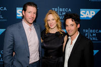 Ed Burns, Marsha Dietlein Bennett and Aaron Lubin at the premiere of