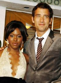 Claire-Hope Ashitey and Clive Owen at the premiere of