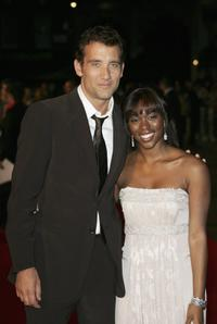 Clive Owen and Claire-Hope Ashitey at the UK premiere of