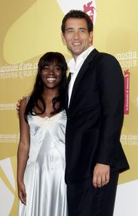 Claire-Hope Ashitey and Clive Owen at the photocall of