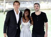 Clive Owen, Claire-Hope Ashitey and Director Alfonso Cuaron at the photocall of
