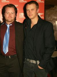Anthony Hayes and Michael Dorman at the premiere of