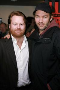 Anthony Hayes and Nash Edgerton at the opening night of