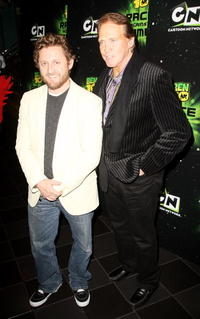 Director Alex Winter and Lee Majors at the UK premiere of