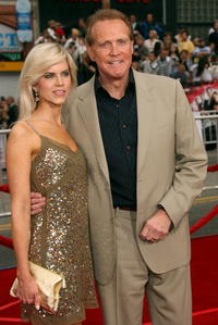 Faith Majors and Lee Majors at the premiere of