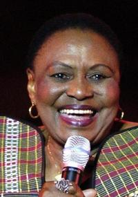 Miriam Makeba at the International Carthage Festival.