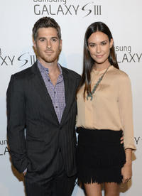 Dave Annable and Odette Annable at the Samsung Galaxy S III Launch in California.