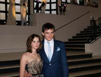 Felicility Jones and Rupert Friend at the British premiere of