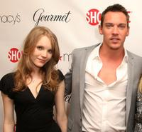 Tamzin Merchant and Jonathan Rhys Meyers at the official launch party for the third season of