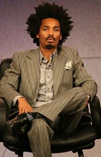 Eddie Steeples at the NBC executive question and answer segment of Television Critics Association Press Tour.
