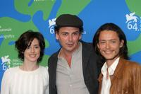 Pilar Lopez de Ayala, director Jose Luis Guerin and Xavier Lafitte at the photocall of