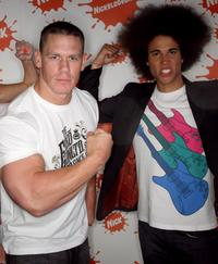 John Cena and Kyle Linahan at the Nickelodeon Australian Kids Choice Awards 2008.
