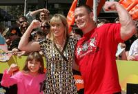 Bindi Irwin, Terri Irwin and John Cena at the Nickelodeon Australian Kids Choice Awards 2008.
