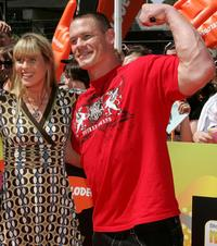 Terri Irwin and John Cena at the Nickelodeon Australian Kids Choice Awards 2008.