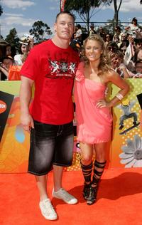 John Cena and Natalie Bassingthwaighte at the Nickelodeon Australian Kids Choice Awards 2008.